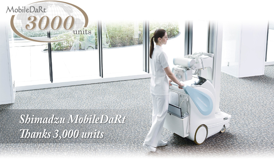 Shimadzu MobileDaRt reached a milestone of 3,000 units worldwide