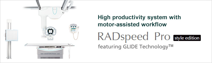General Radiographic System - RADspeed Pro style edition featuring GLIDE Technology